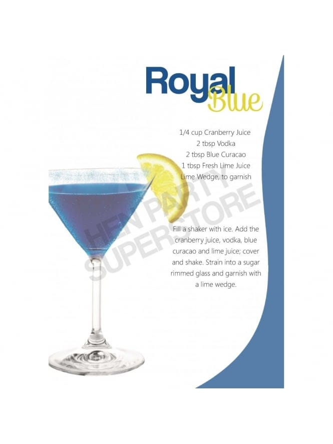 Royal Blue Cocktail Recipe Hen Party Superstore