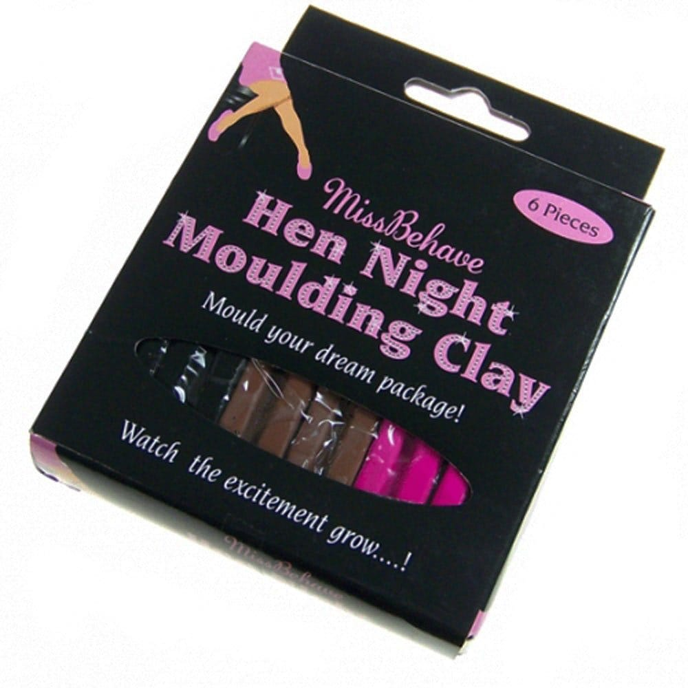 HEN NIGHT PARTY GAME MOULDING CLAY, PLASTICINE, PLAY DOH