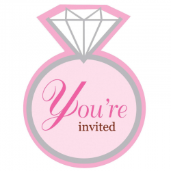 Bling Ring Hen Party InviteBling Ring Hen Party Invite