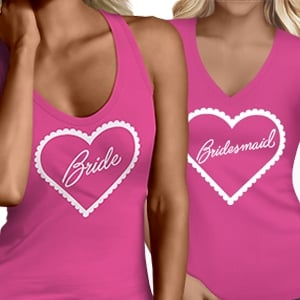 Frilly Heart Hen Party Tops