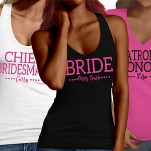 Dual Font Hen Party T-Shirts