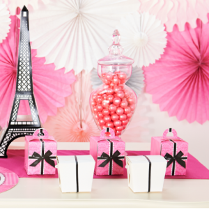 Pink and Black Partyware