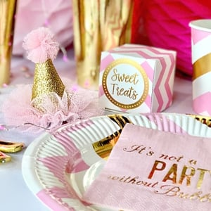 Pink and Gold Partyware