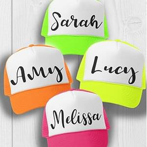 Personalised Hen Party Caps