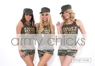 Army Girls Fancy Dress Theme - Hen Party Ideas