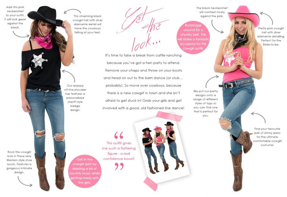 Cowgirl Fancy Dress Costumes - Themed Hen Party
