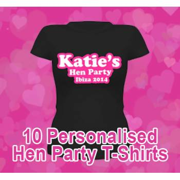 WIN x10 FREE Personalised Hen Party T-shirts!