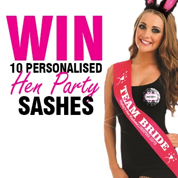 WIN 10 Free 'Personalised' Hen Party Sashes!