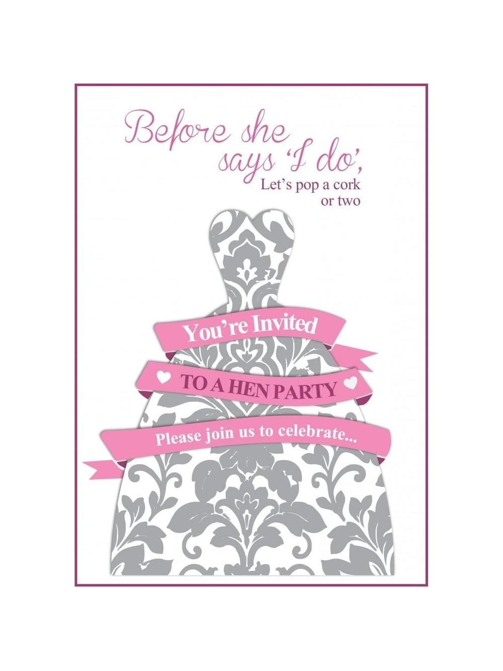 Before She Says I Do Free Hen Party Invitation | Hen Party Superstore