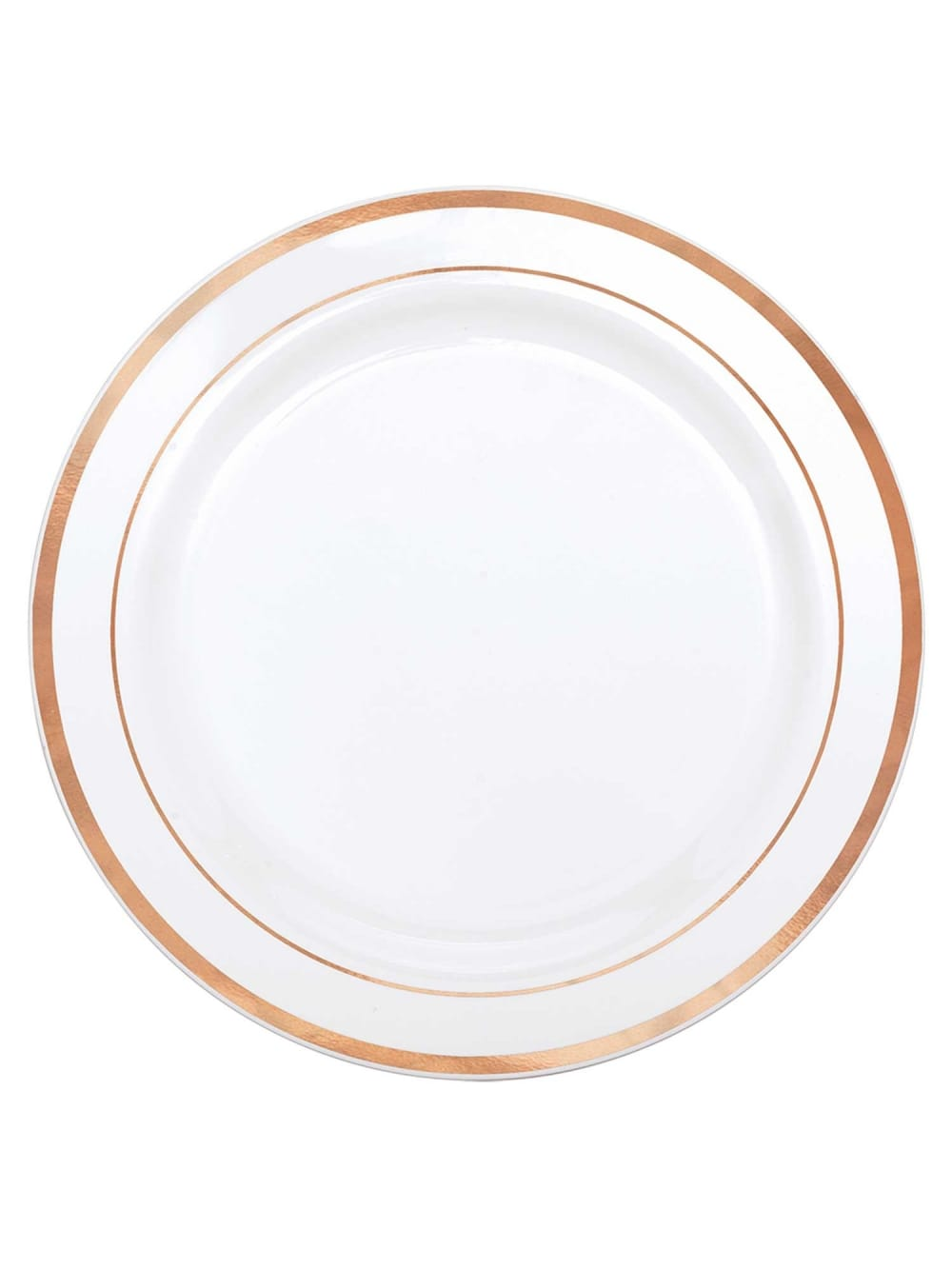 10x Large Rose Gold and White Plastic Plates  sc 1 st  Hen Party Superstore & 10x Large Rose Gold and White Plastic Plates - Partyware ...