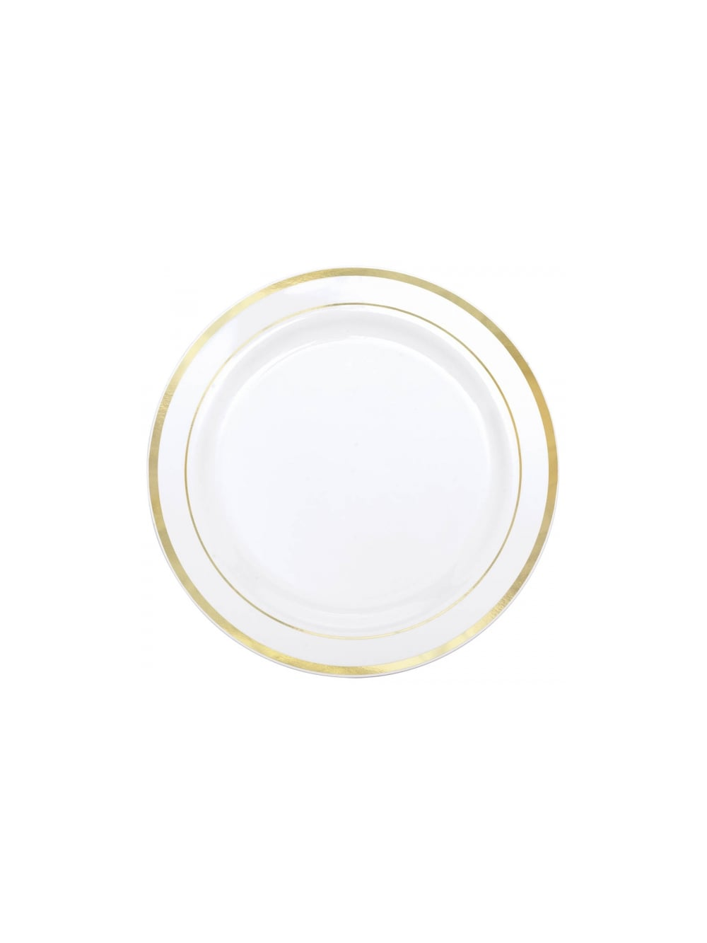 Premium White Plastic Plates Gold Trim  sc 1 st  Hen Party Superstore & Premium White Plastic Plates Gold Trim - Partyware u0026 Decorations ...