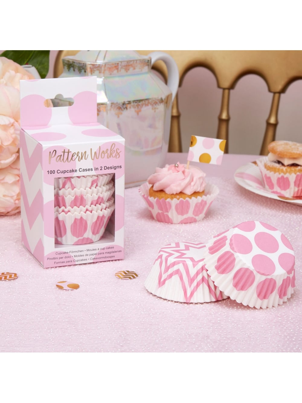 Pink and White Cupcake Cases - Partyware & Decorations from Hen ...