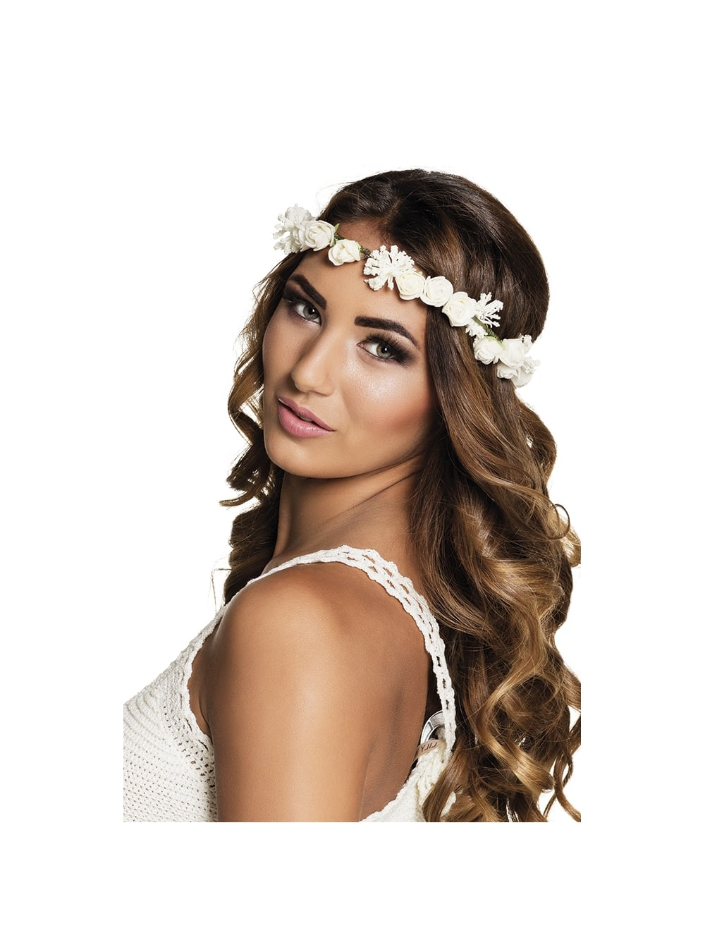 Ibiza White Flower Headband Hen Party Accessories From Hen Party