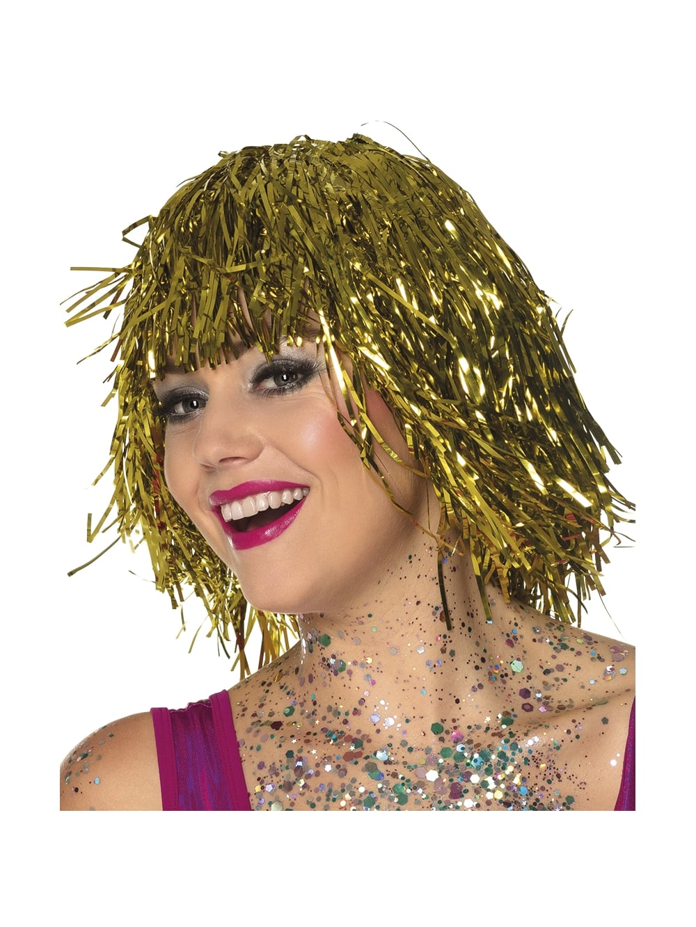 Gold Shimmering Metallic Wig - Hen Party Accessories from Hen Party  Superstore UK 475d0fd64435