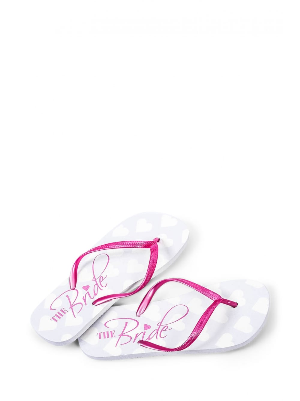 5e4e7e9ffb1e Bride Pink and White Flip Flops - Hen Party Accessories from Hen Party  Superstore UK