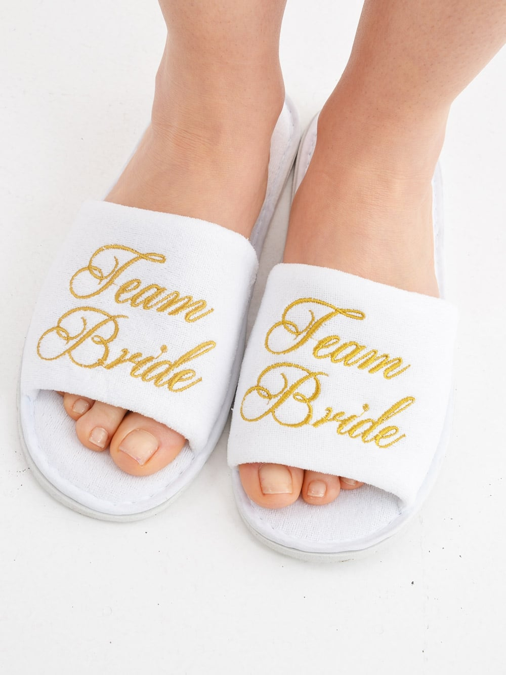 e36ac77dc32 Team Bride Spa Slippers - Personalised Items from Hen Party Superstore UK