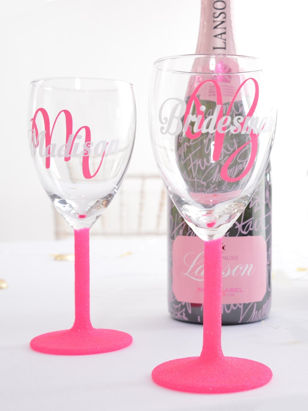 Hen Party Superstore Glitter Personalised Wine Glass Partyware