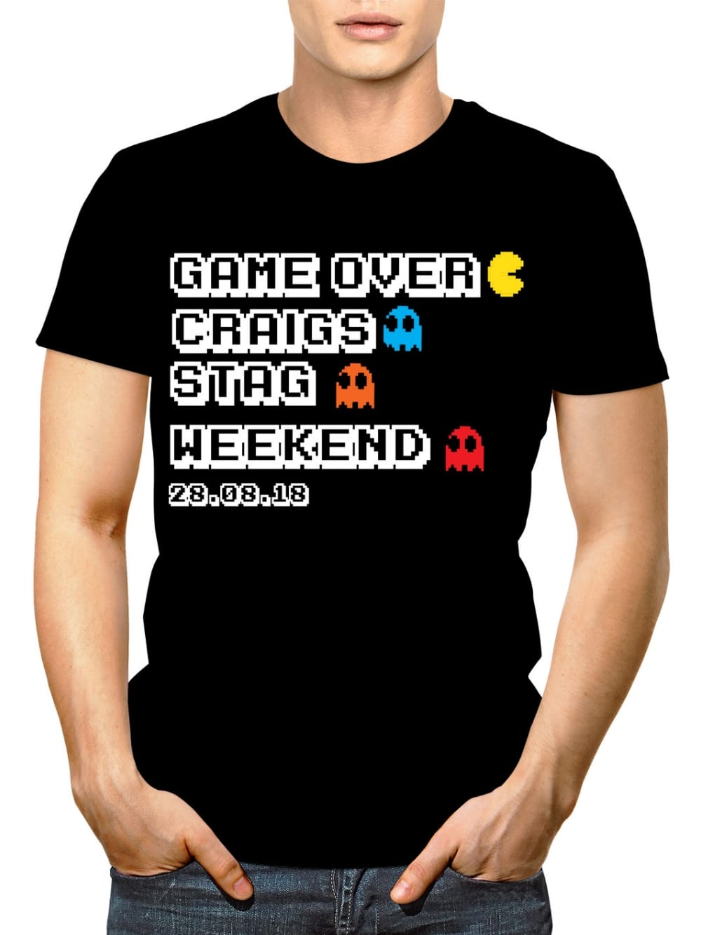 499d516d Hen Party Superstore Game Over Personalised Stag Party T-Shirt ...