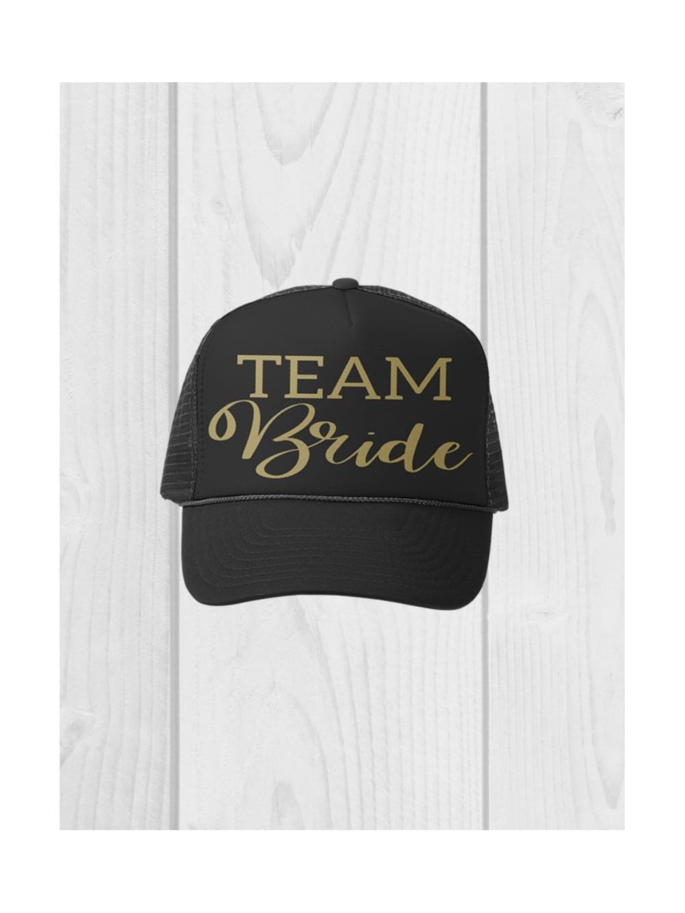 65693a8b966 Hen Party Superstore Black  Team Bride  Peaked Cap - Hats from Hen ...