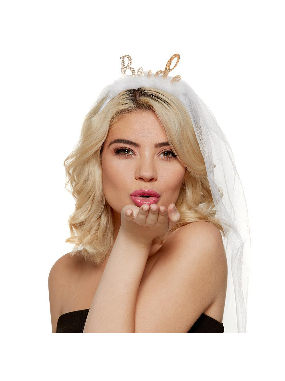 Bride Headband with attached Veil - Hen Party Accessories from Hen Party  Superstore UK ddb73e7c831