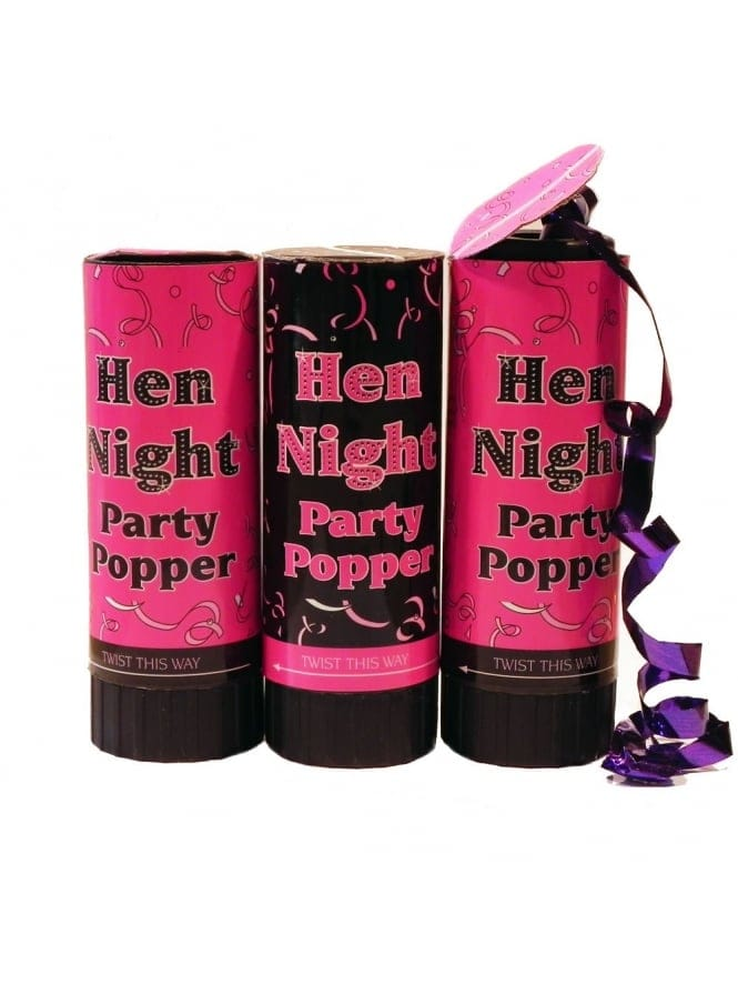 (3 In A Pack) Hen Party Spring Action Party Poppers