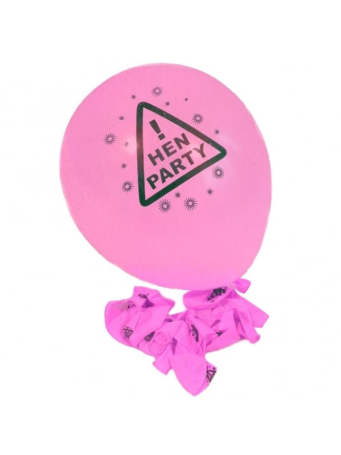 Pink Hen Party Balloons x12 Pack