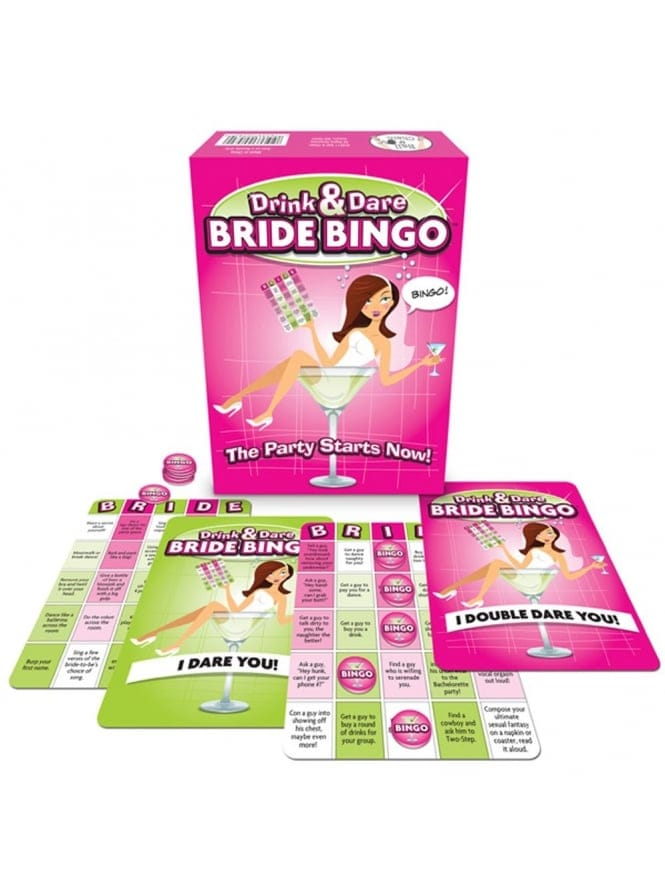 Drink And Dare Bride Bingo Hen Party Game!