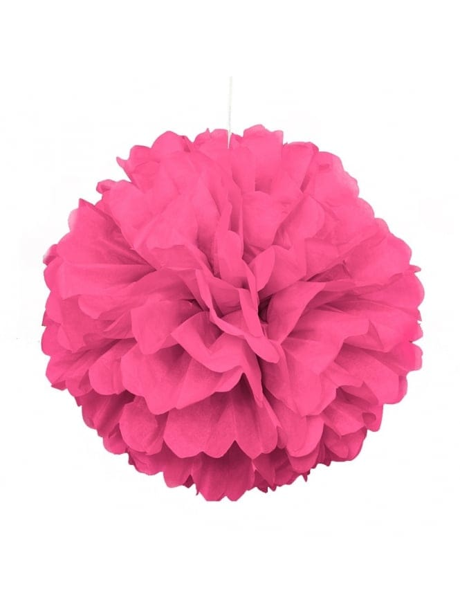 Pink Hen Night Decoration Puff Ball