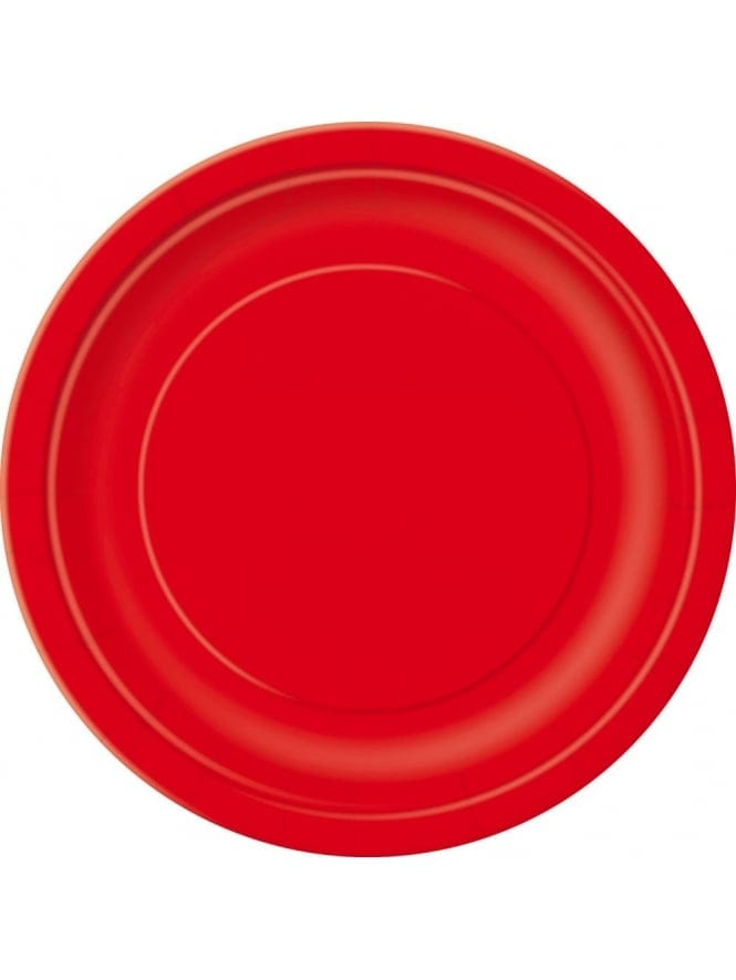 "Pack of 8 Paper Plates 7"" Red"