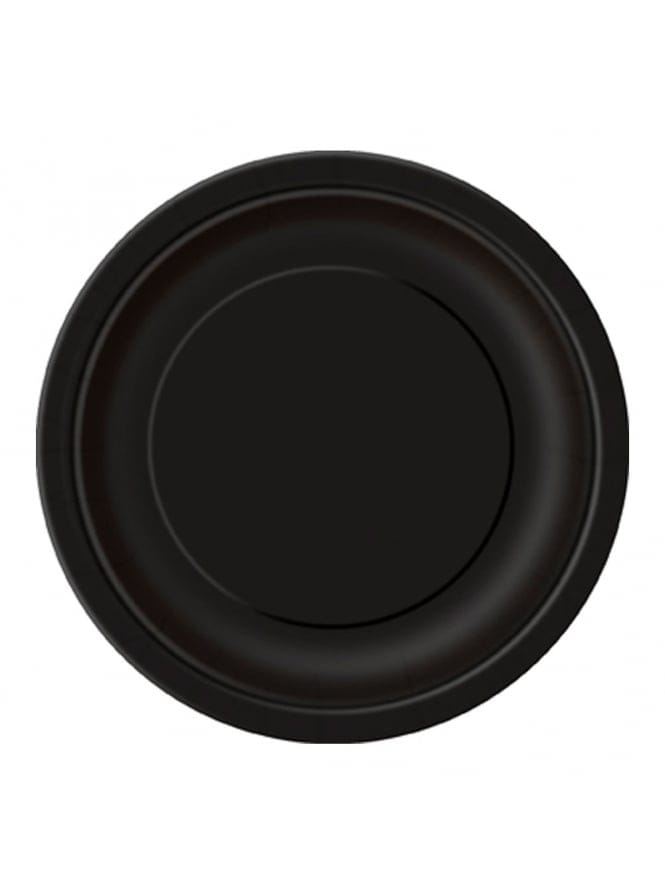 x8 Hen Party Black Plates Small