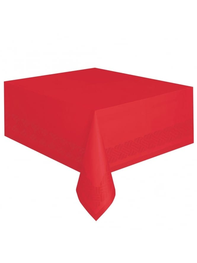 Plastic Table Cover Red