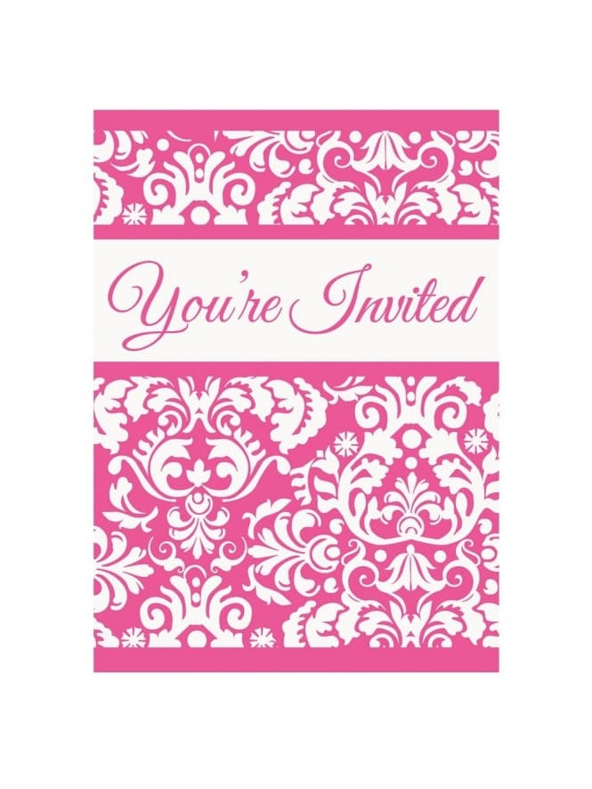 x8 Pretty Printed Bridal Shower Invitations
