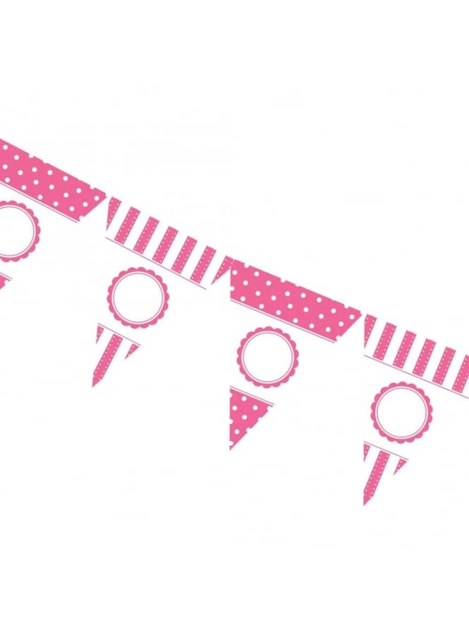 Personalized Pink Hen Party Bunting Kit