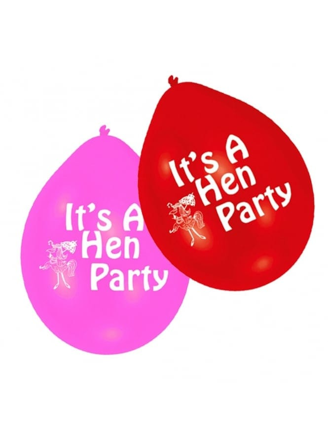 x10 It's A Hen Party Balloons (Air Filling)