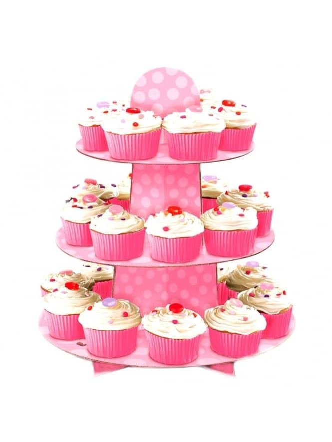 Pretty Pink Polka Dot Cupcake Tree/Stand