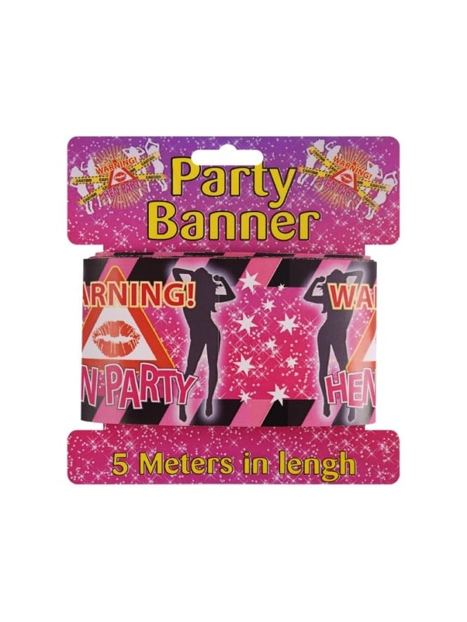 Warning Hen Party Tape/Banner 5m