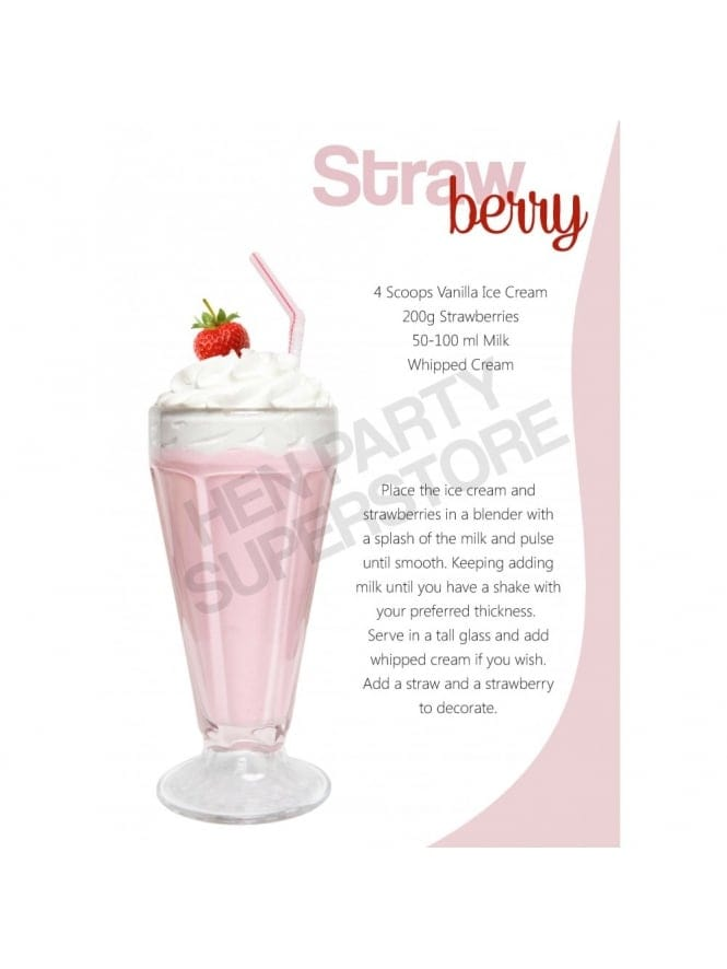 Hen Party Recipe Strawberry Milkshake
