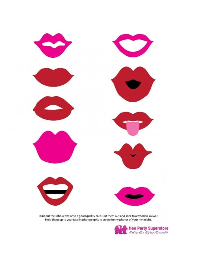 Hen Party Game / Hen Night Games Lip-Sticks Printable