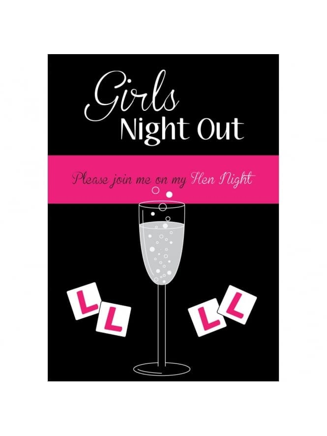 Girls' Night Out Free Hen Party Invitation