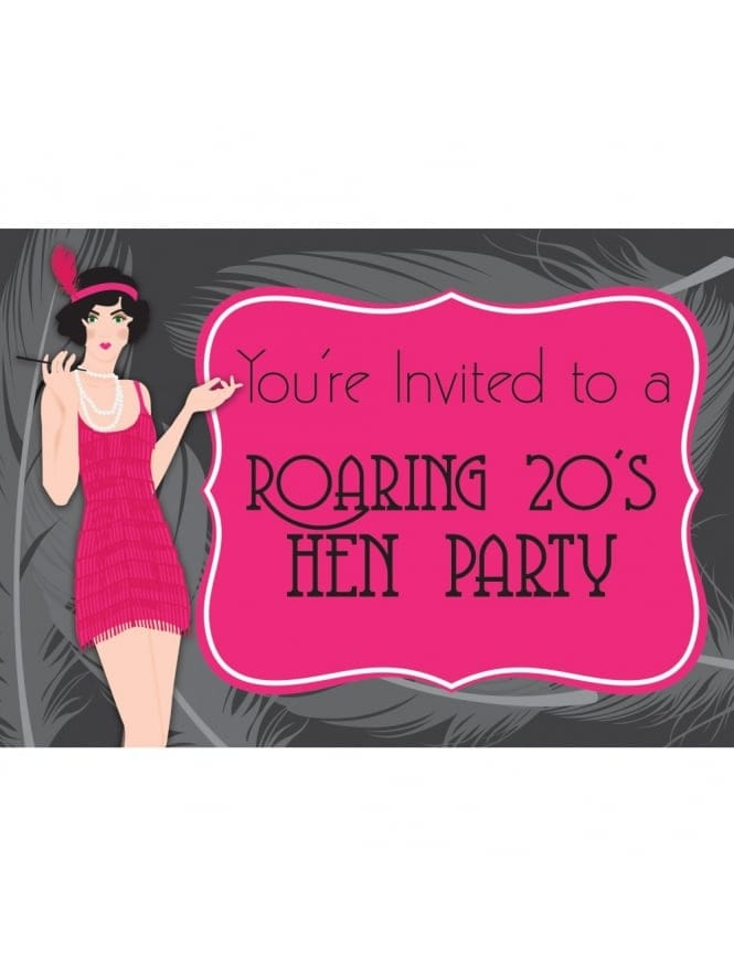 Flapper Hen Party Invitation -Download/Printable