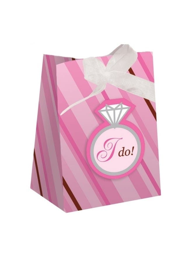Bridal Shower Hen Party Favour Gift Bags Bling Ring x12