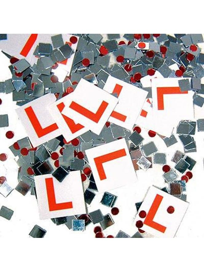 Red L Plate Confetti Sprinkles