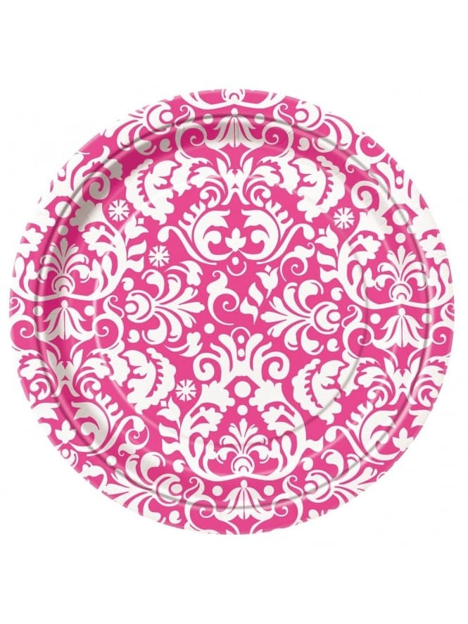 Hen Party Tableware Small Damask Pattern Party Plates