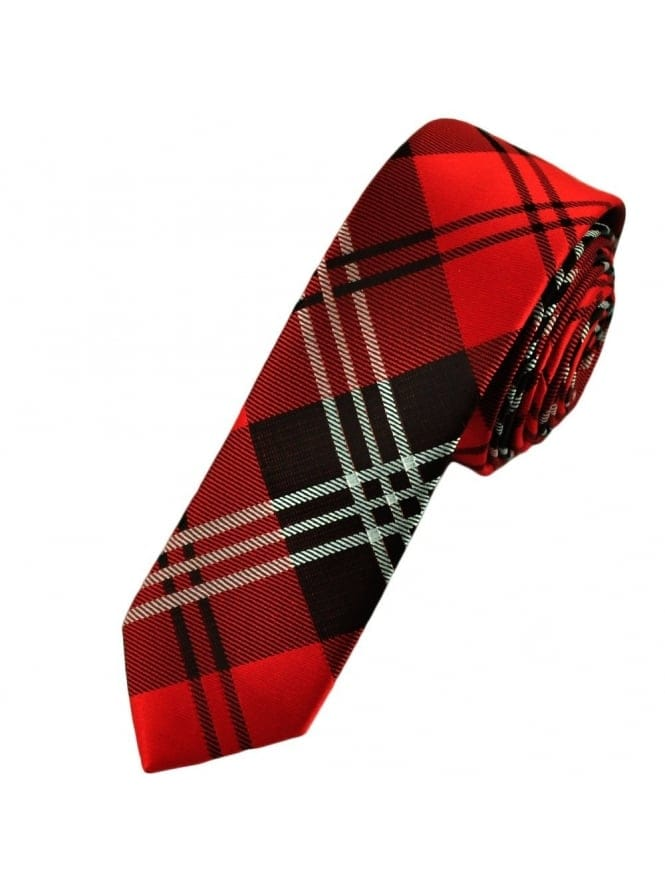 School Girl Red & Black Tartan Tie
