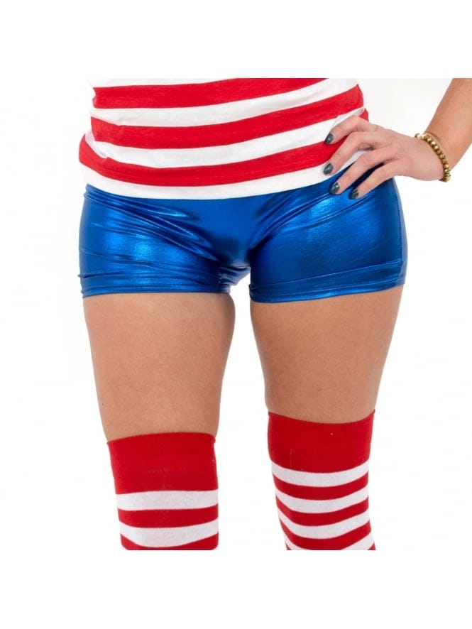 Book Character Fancy Dress Blue Shorts / Hot Pants