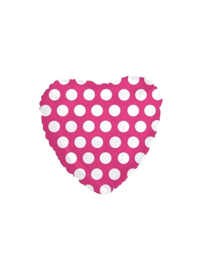 Hen Party Foil Pink Spotty Heart Balloon