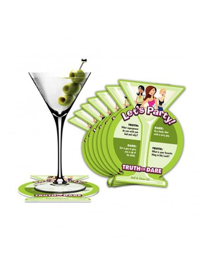 Let's Party Drinks Coasters, Truth Or Dare Game