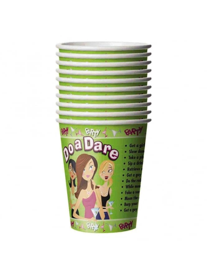 x10 Green Do A Dare Hen Party Cups