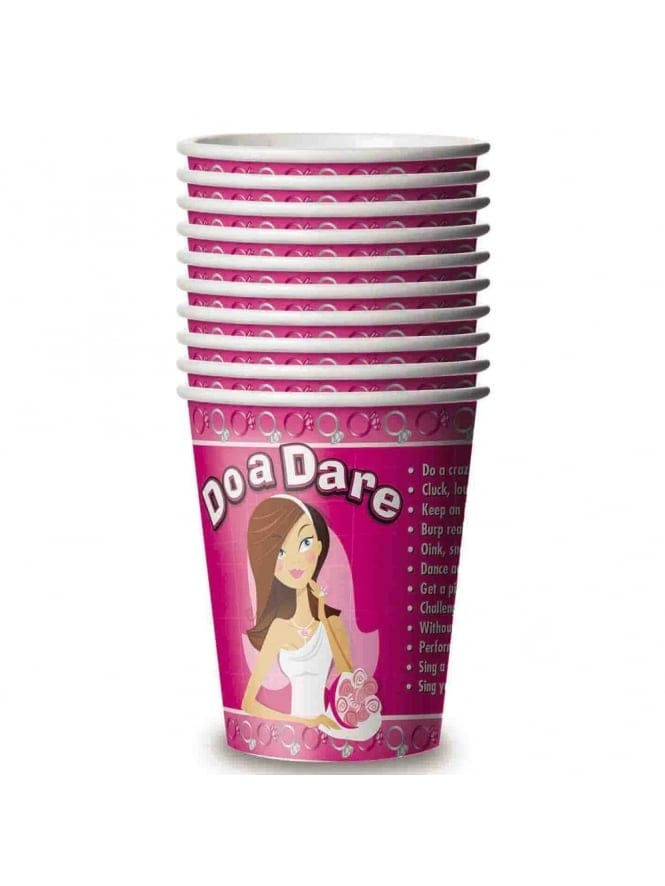 x10 Pink Bride To Be Dare Cups