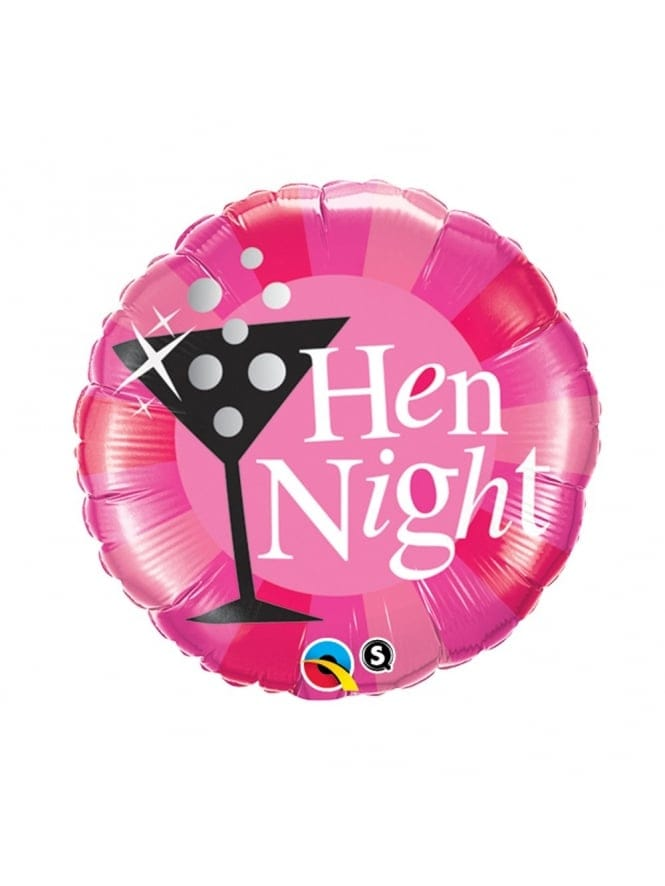 Hen Party Cocktail Glass Foil Balloon